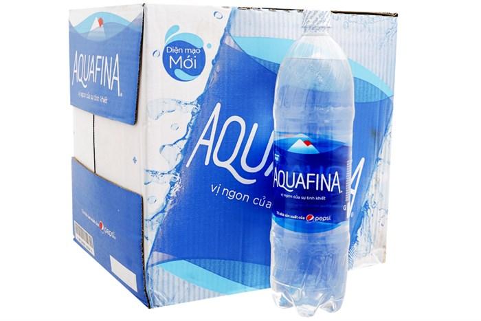 Nước tinh khiết Aquafina thùng 12 chai 1,5 lít