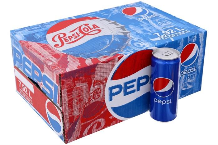 Nước ngọt Pepsi thùng 24 lon cao 330ml